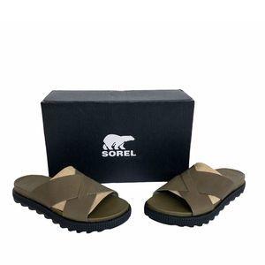 Sorel Sage Crisscross Roaming Leather Sandals 7